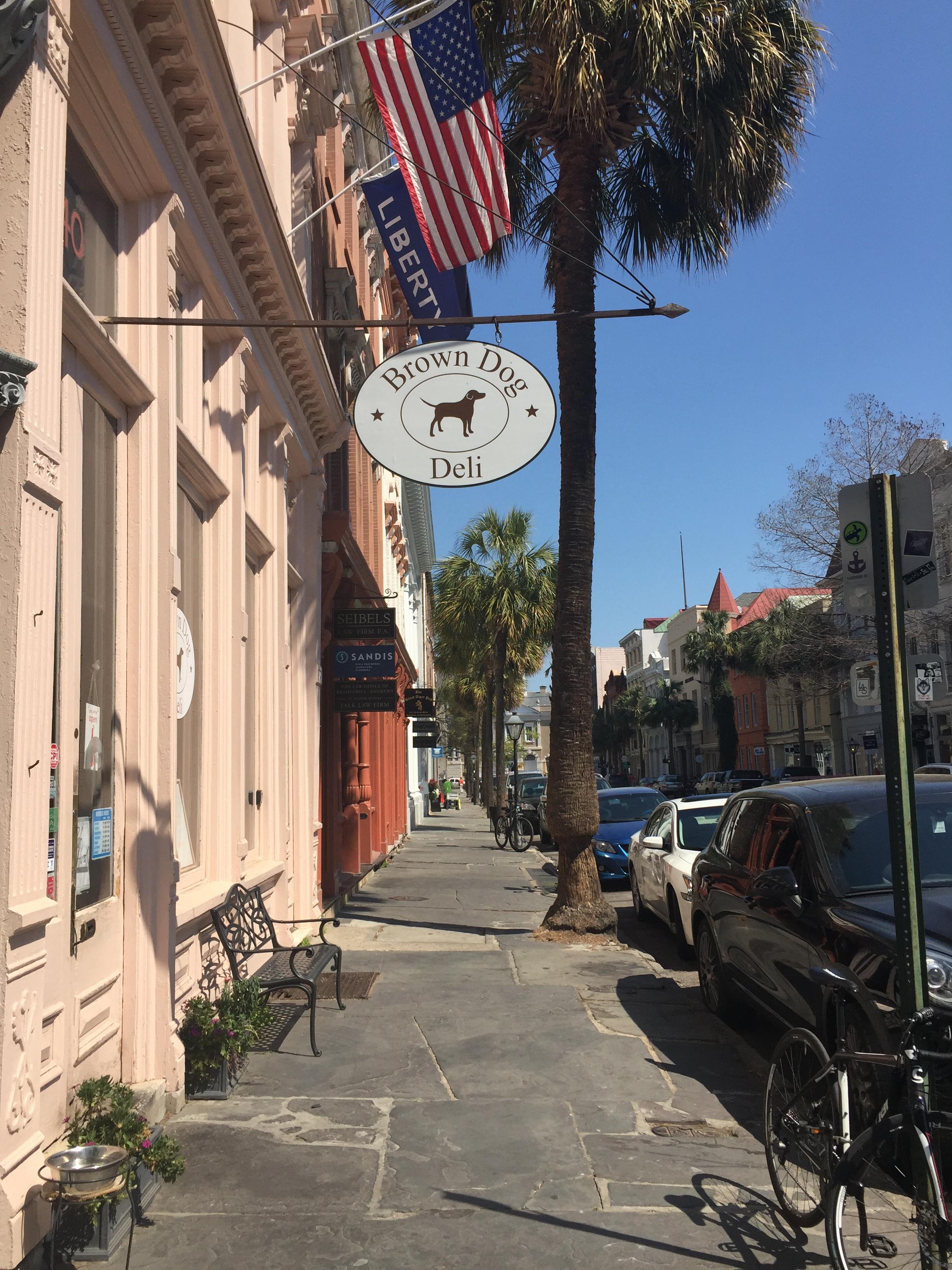 Outside of Brown Dog Deli Charleston SC Gluten Free Restaurant