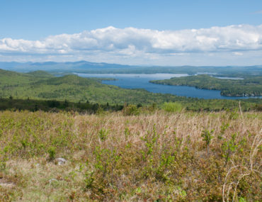 Mountain View of Lake Winnipesaukee in the spring