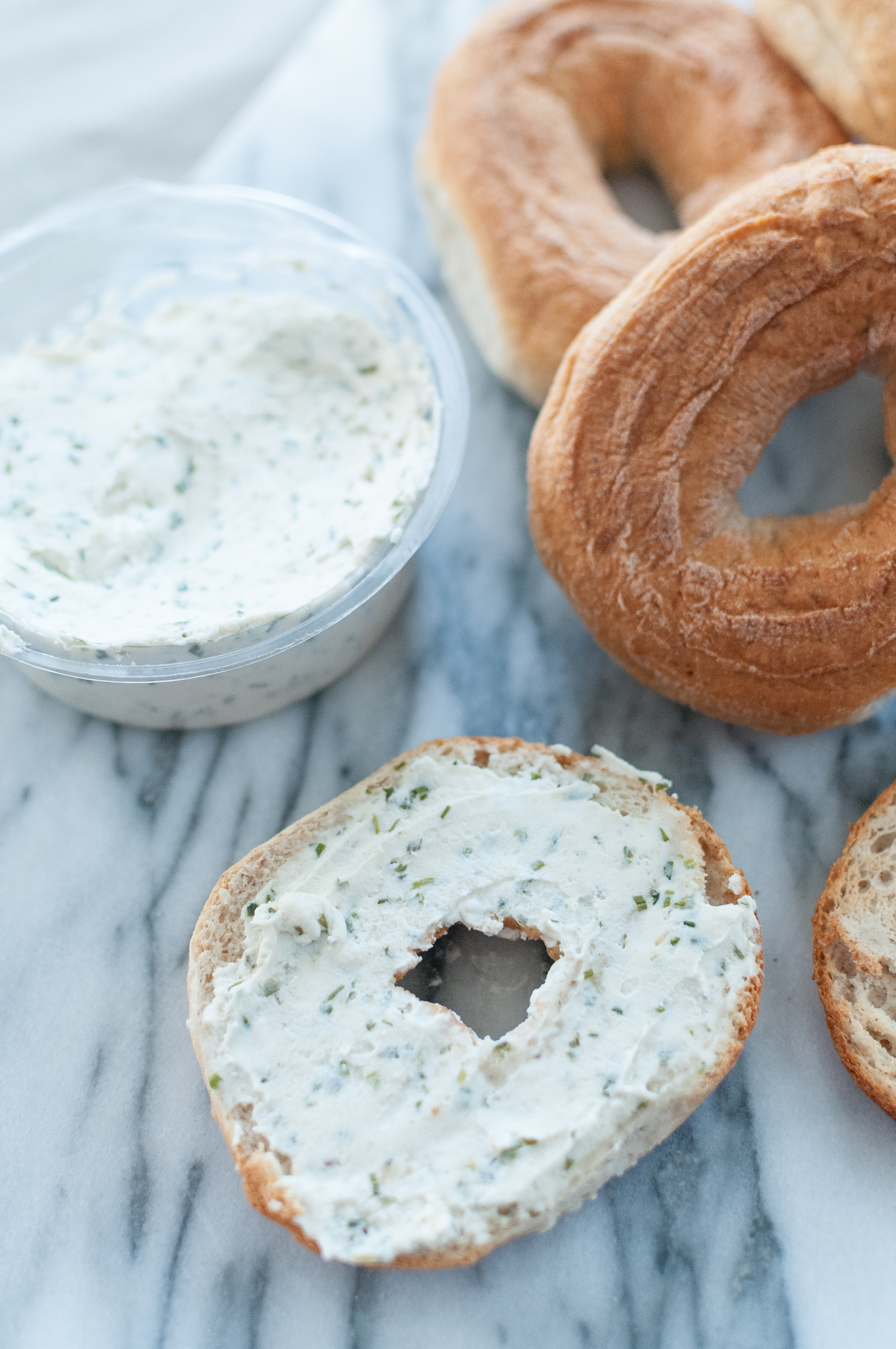 kite hill cream cheese on udis bagels
