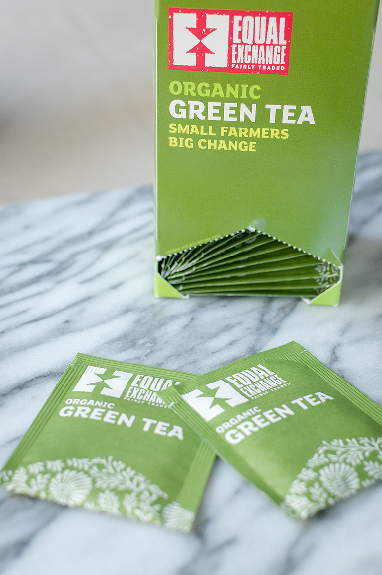 equal exchange fairly traded organic green tea bags