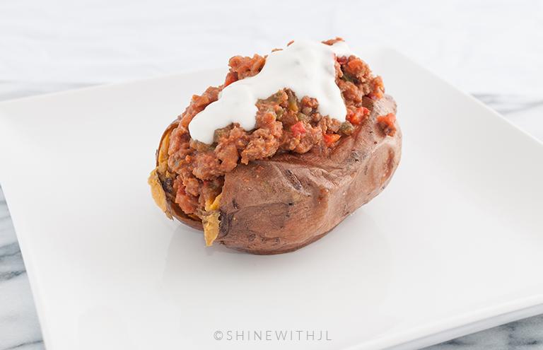 paleo sloppy joe stuffed sweet potato gluten free dairy free