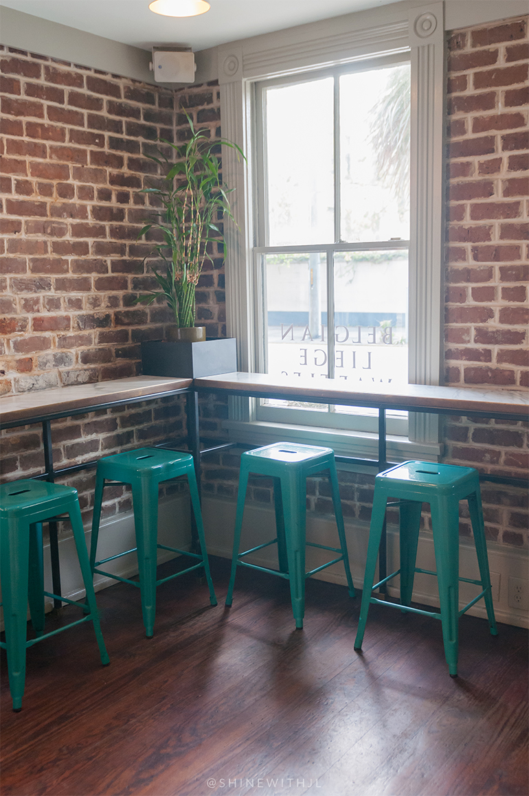 teal bar stools mirabelle cafe savannah