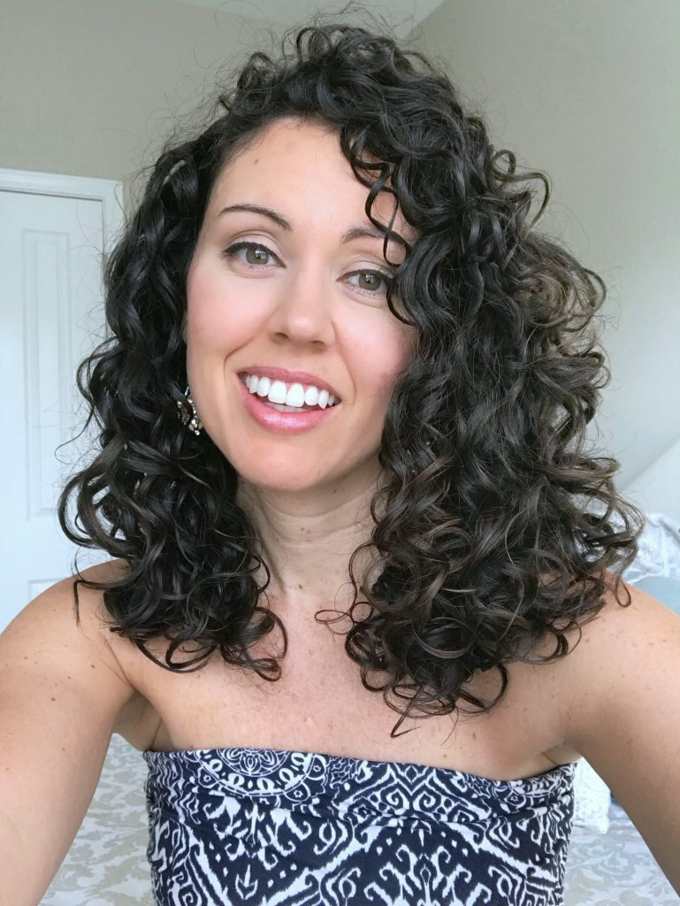Shoulder length curly hair cut