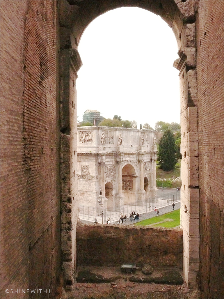Arch of Constantine as seen from the Colosseum