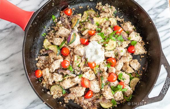 gluten free dairy free one pan greek meal recipe