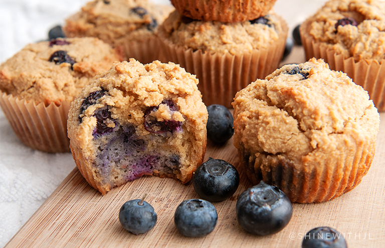 gluten free grain free dairy free lemon blueberry muffin recipe
