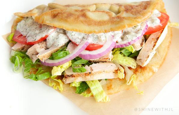 paleo gluten free dairy free chicken gryo sandwich recipe