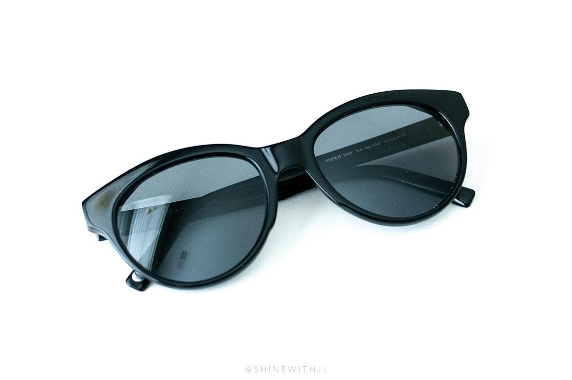 warby parker sunglasses black plastic piper