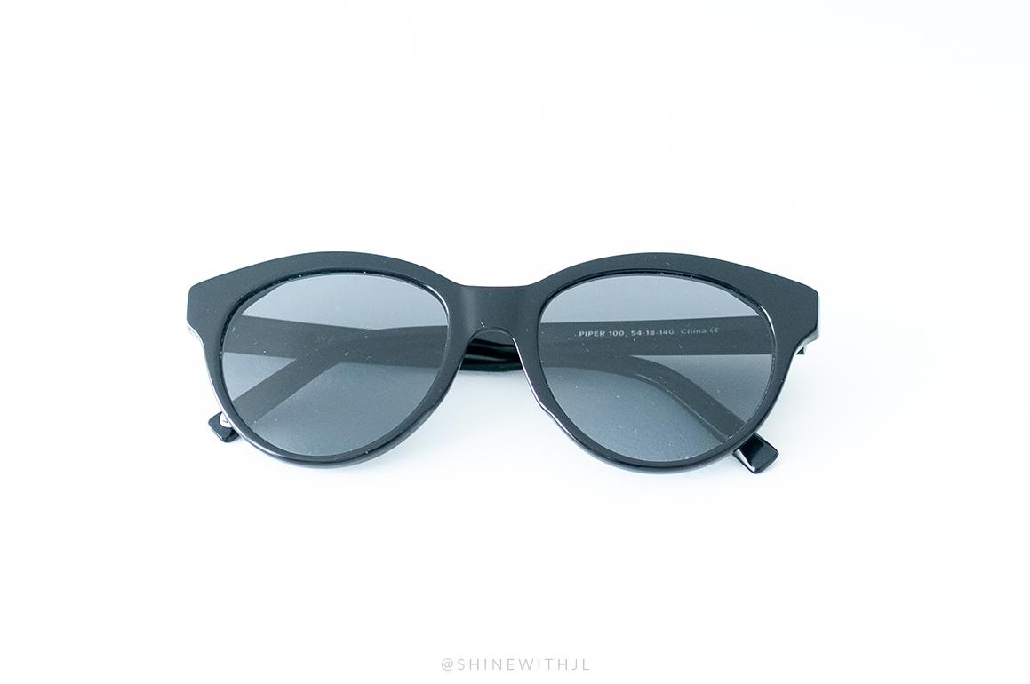 plastic black sunglasses piper warby parker