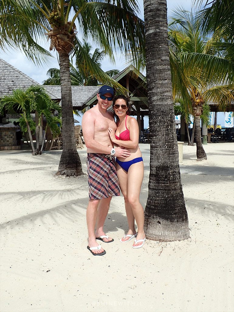 couple celebrating anniversary sandals antigua