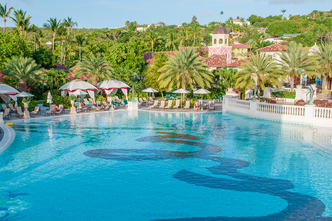 large pool at all inclusive sandals resort antigua