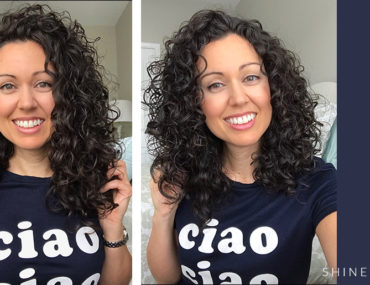 before and after curly hair cut