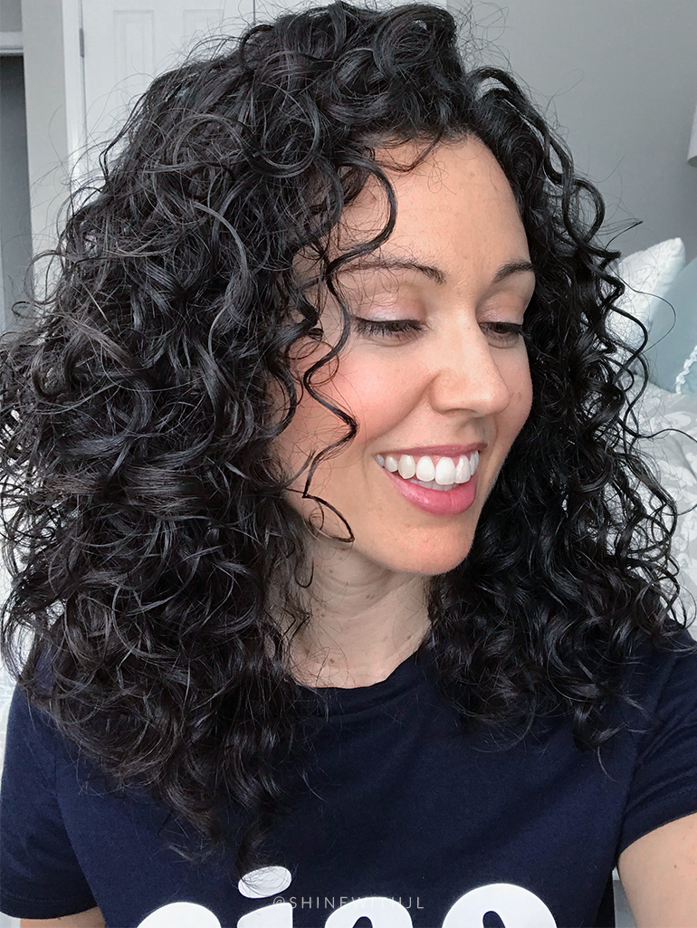 Each side of natural curly hairstyle