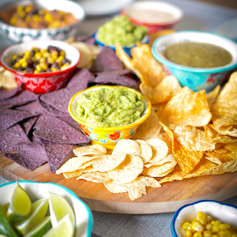 guac chips and limes