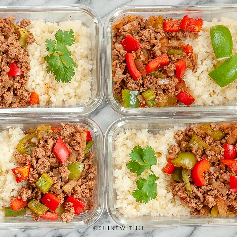 fajita meal prep recipe idea shine with jennifer leigh