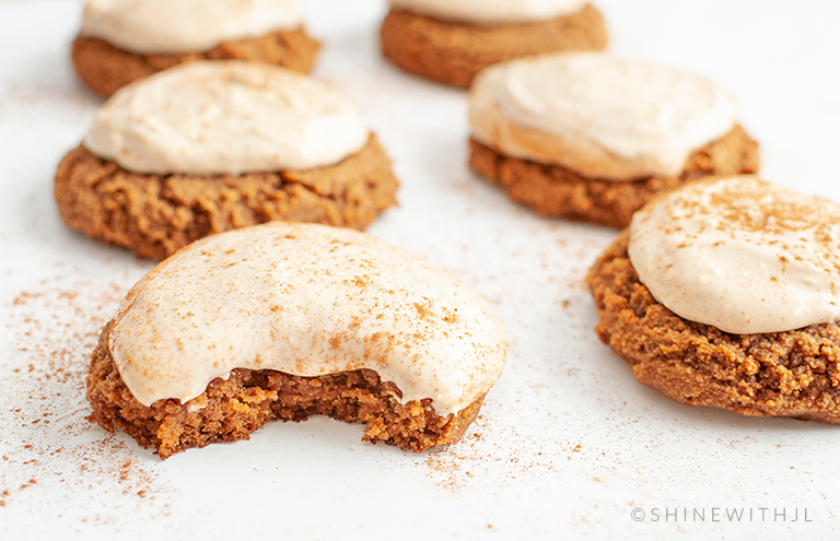 cream cheese frosted pumpkin spice gluten free cookies recipe