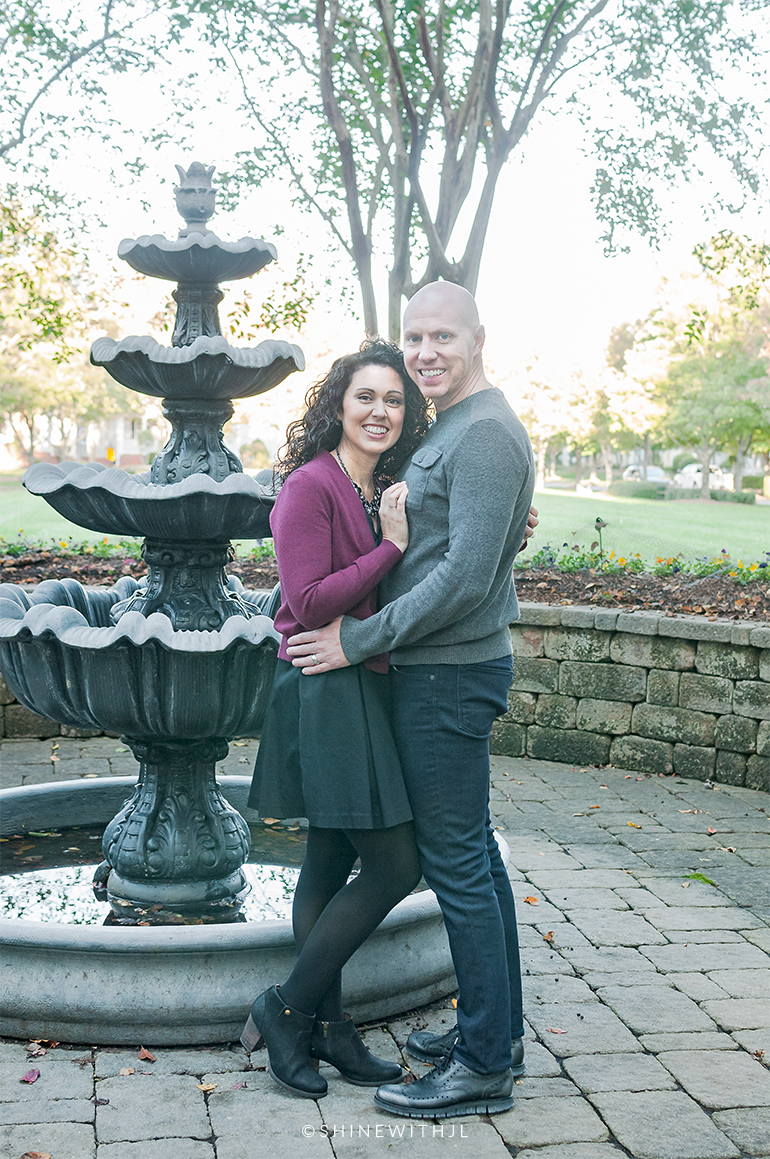 curly hairstyle for engagement pictures