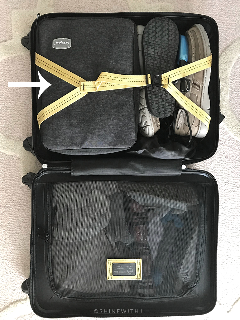 g-raphy camera travel cube inside Tumi carry-on luggage