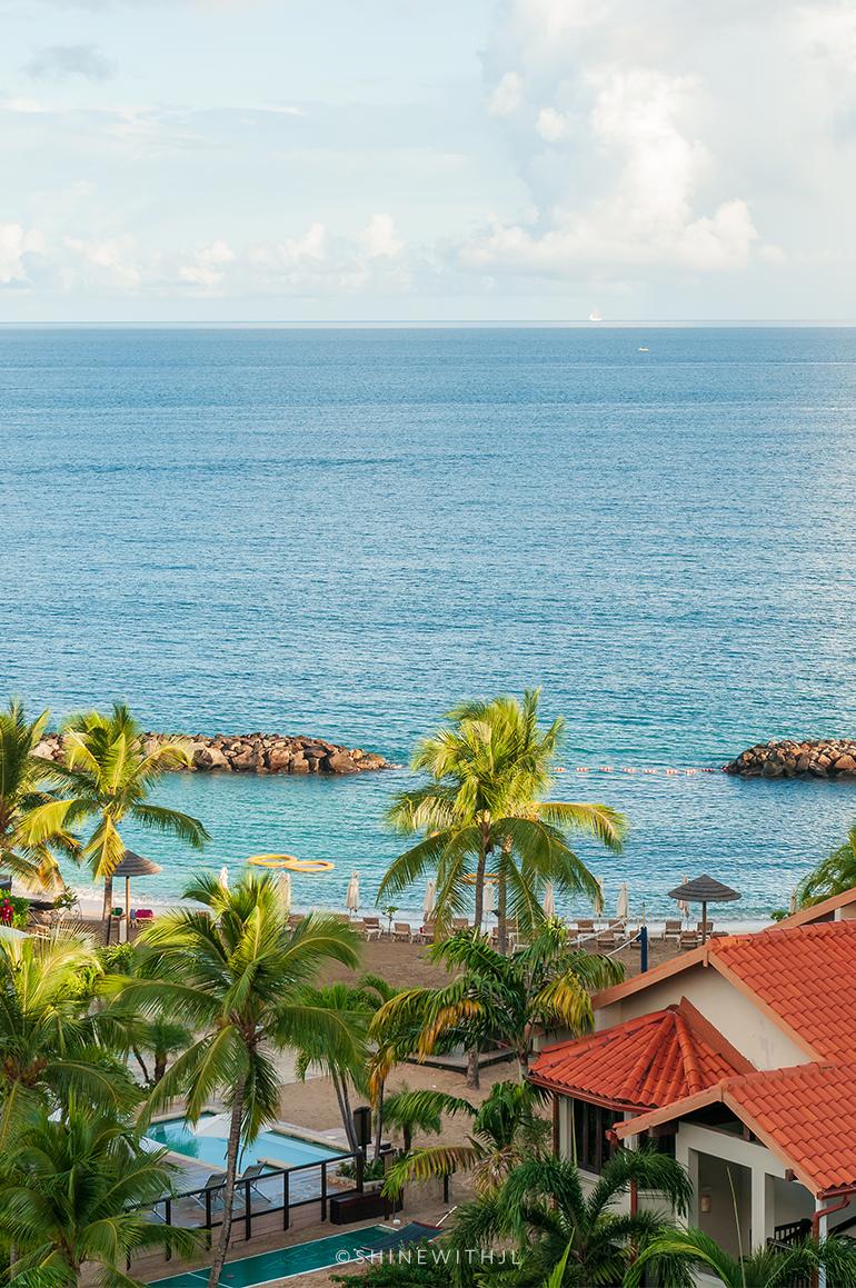 view from pink gin village beachfront rooms sandals grenada resort