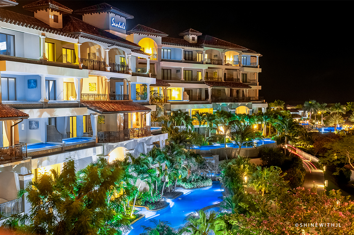 travel photography sandals grenada at night