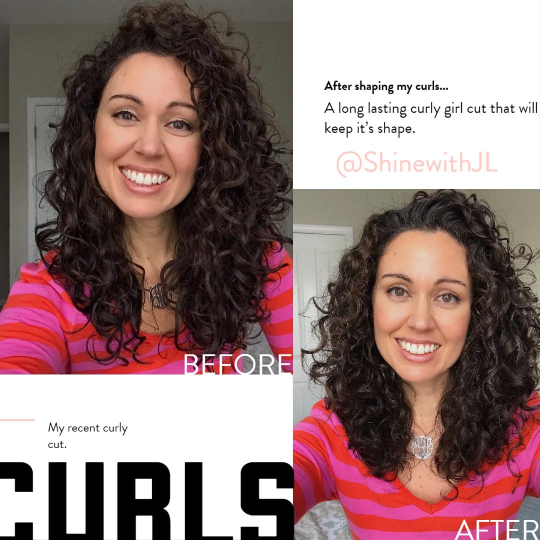 shoulder length 2c 3a curls after devacurl cut