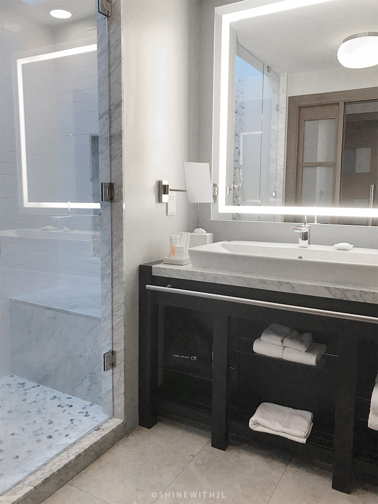 luxurious bathroom at south seas premium rooms sandals grenada resort