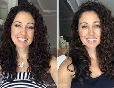 before and after curl by curl cut curly hairstyle