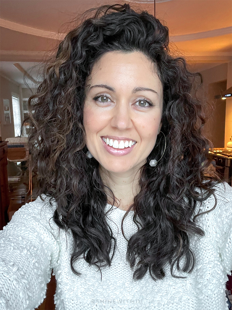 after curly hairstyle with layers