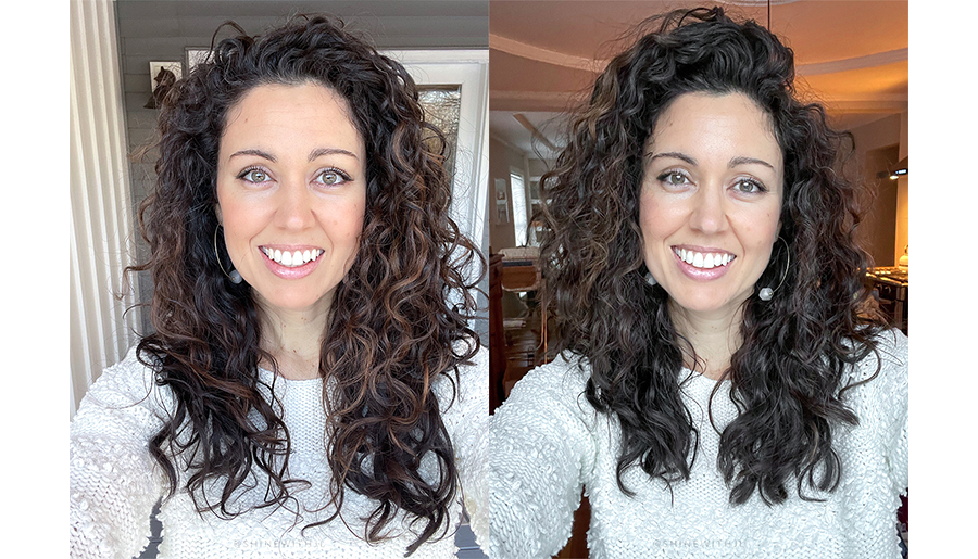 Curly Hairstyle with Layers for Winter