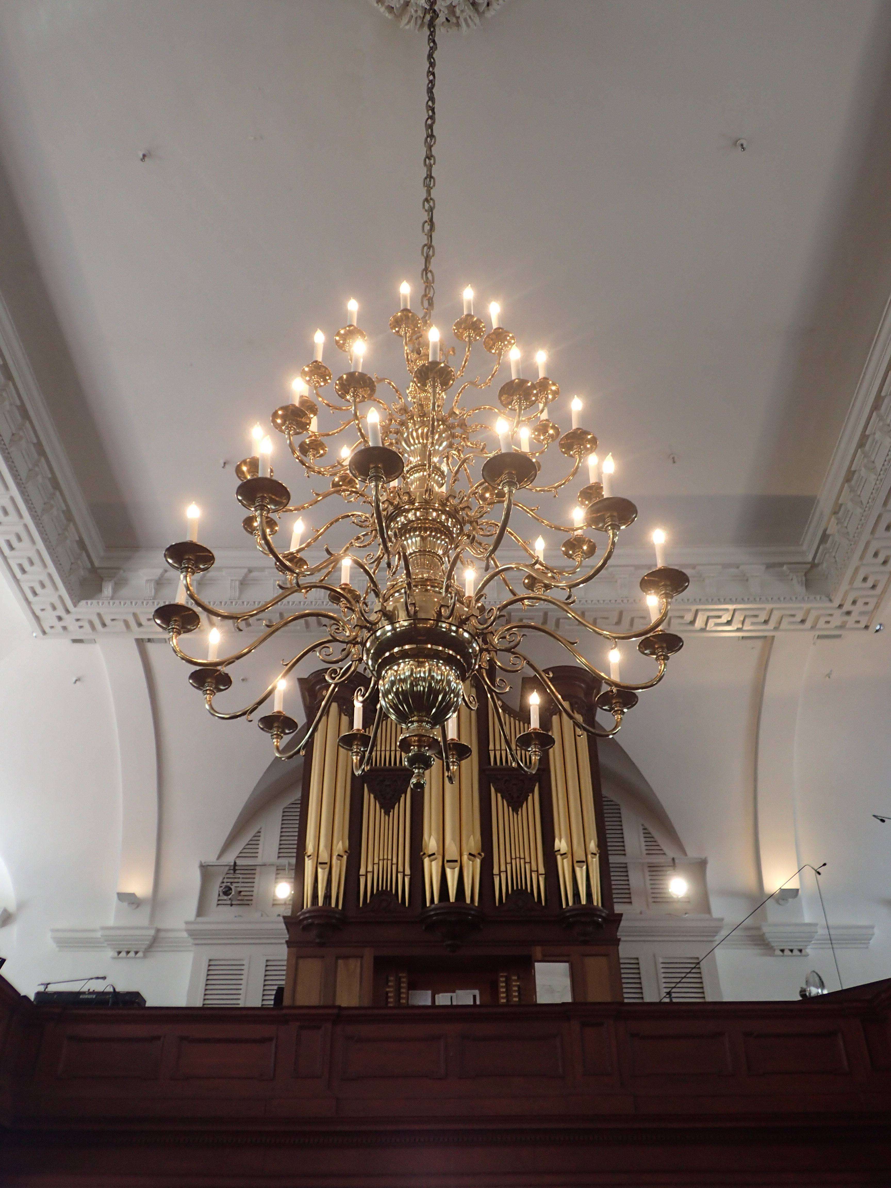 Chandelier and Pipe Organ St Michael's Episcopal Church Charleston