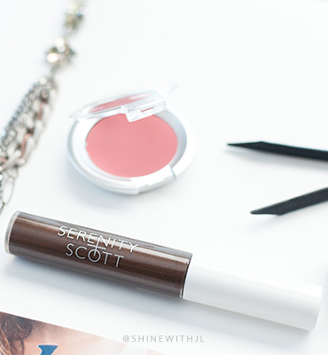 serenity scott beauty gluten free paraben free brow gel review shinewithjl
