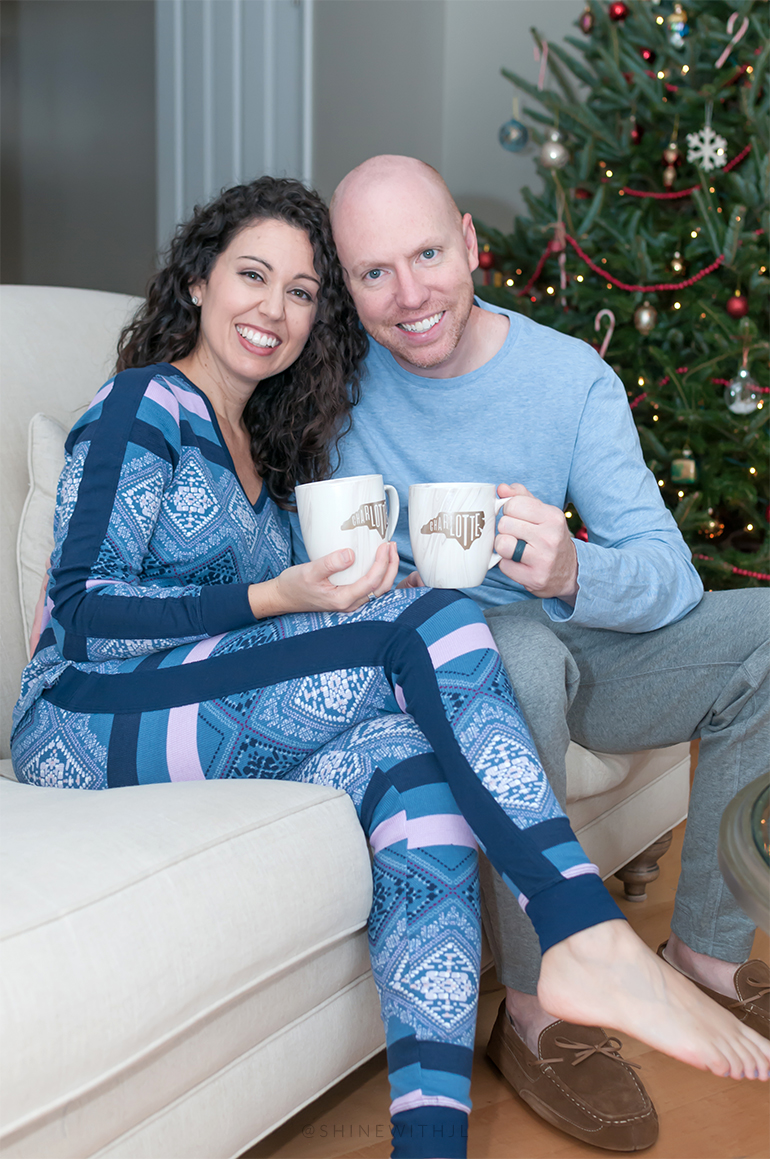 pajama portraits with charlotte coffee mugs by CLT Find