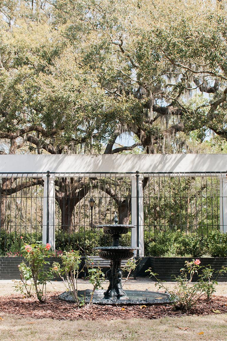 garden of fragrance savannah black water fountain