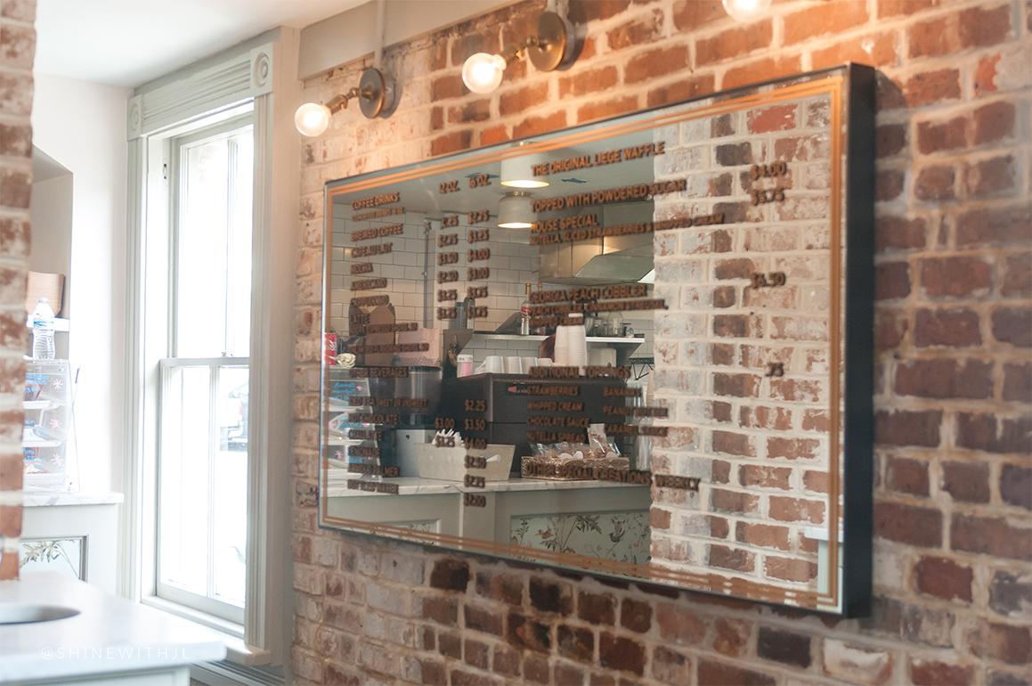 mirror cafe menu elegant glam decor savannah