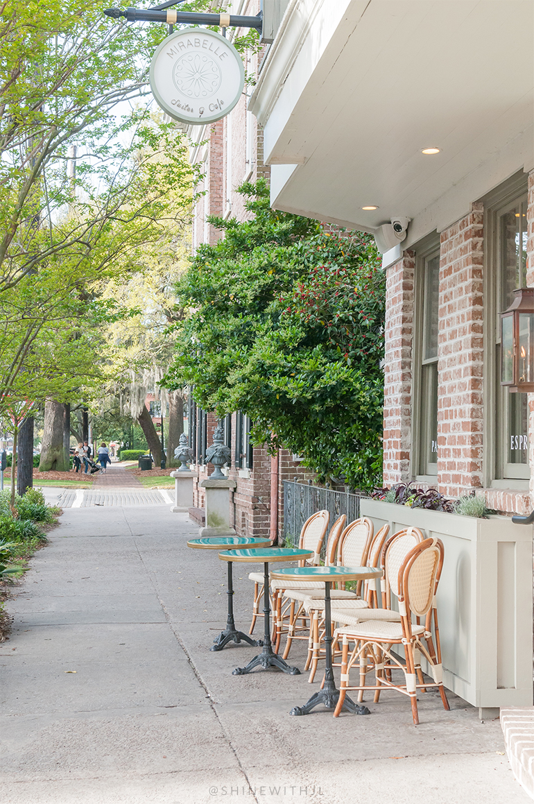 outdoor paris inspired chairs and pedestal tables mirabelle cafe