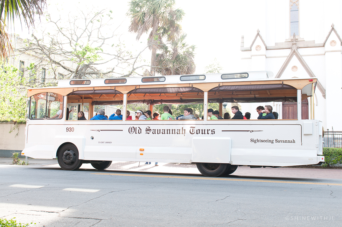 old savannah tours white trolley st johns cathedral