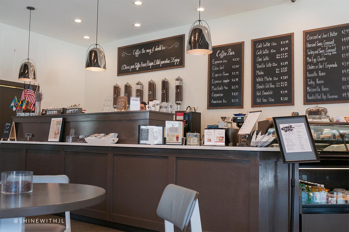 menu and order board blends a coffee boutique shop historic district savannah