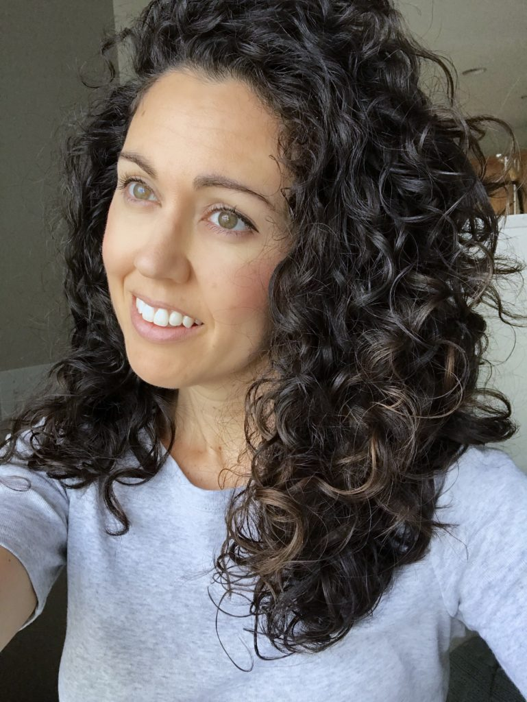 No Fuss Shoulder Length Curly Hair Routine Curly Type 2c