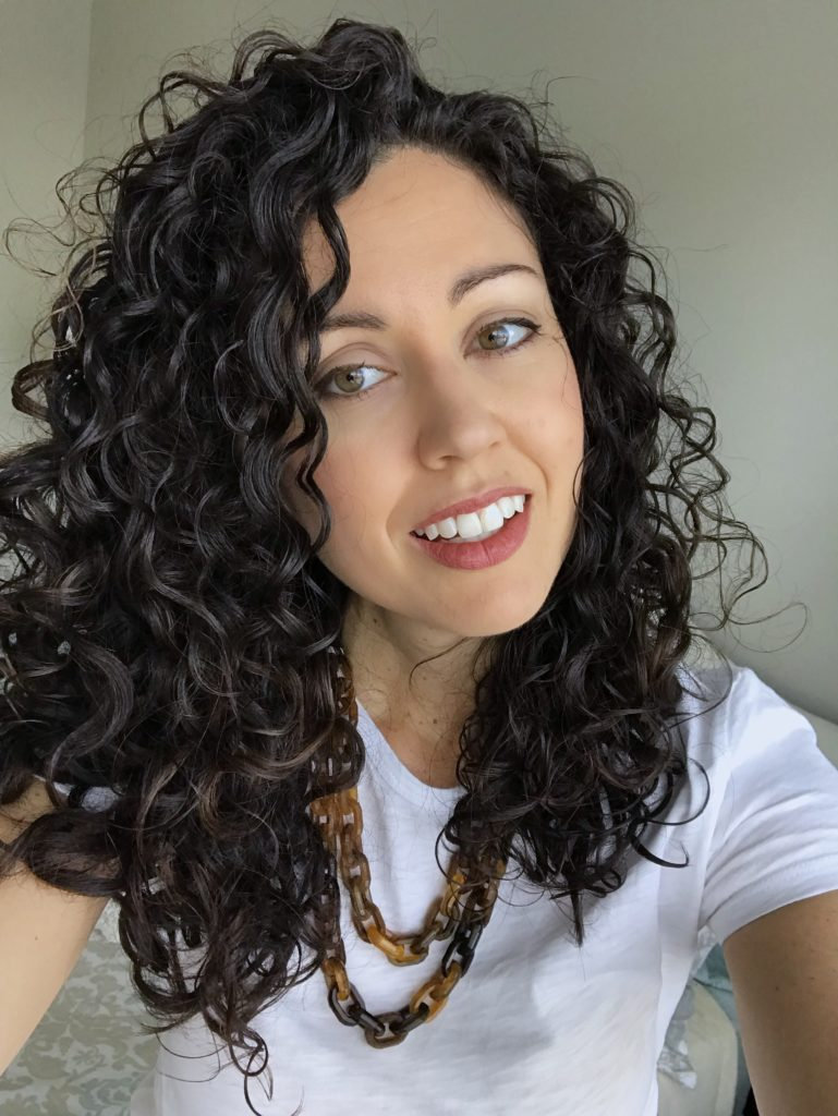 Curly Hair Styled with Kinky Curly Curling Custard