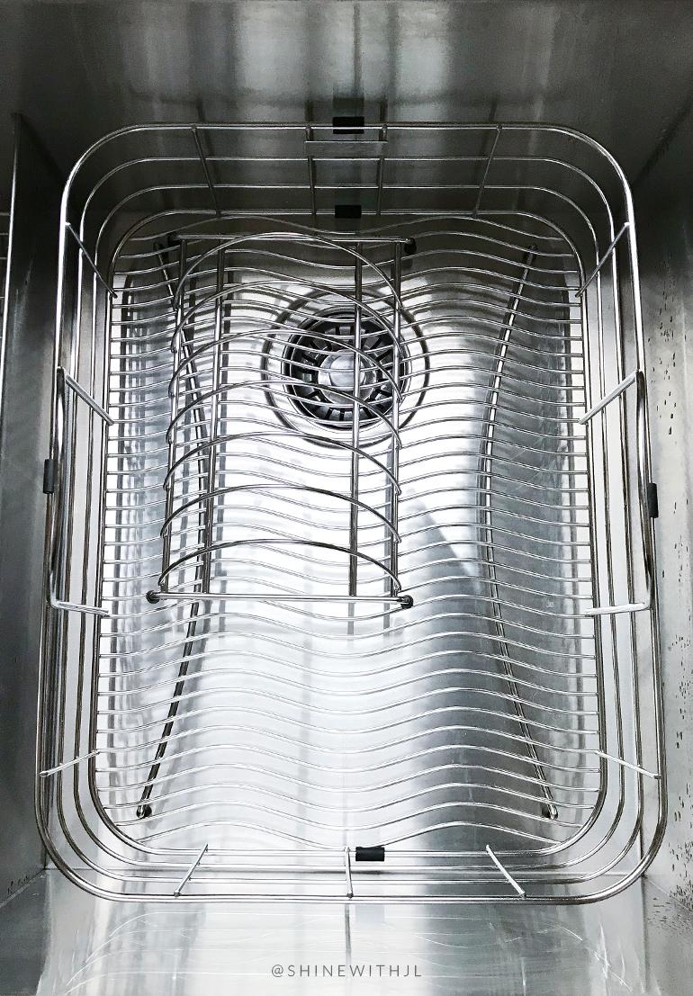 elkay stainless steel dish rack in kraus sink