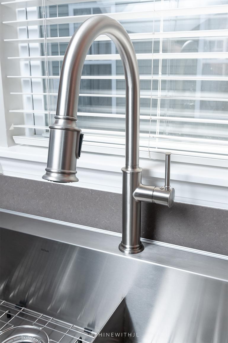 stainless steel spot free high arc faucet kraus