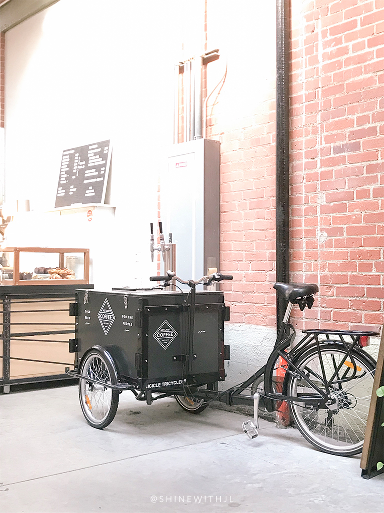 cold brew coffee delivery bike clt