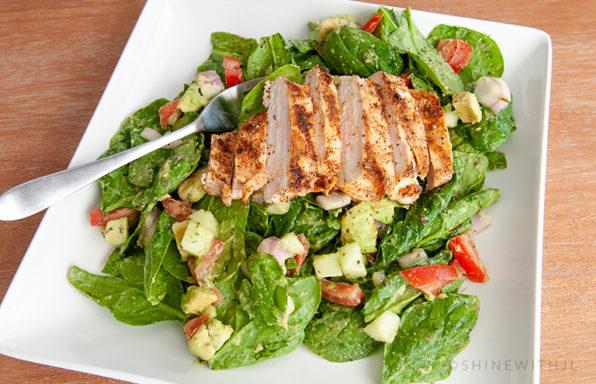 gluten free dairy free chicken avocado salad recipe