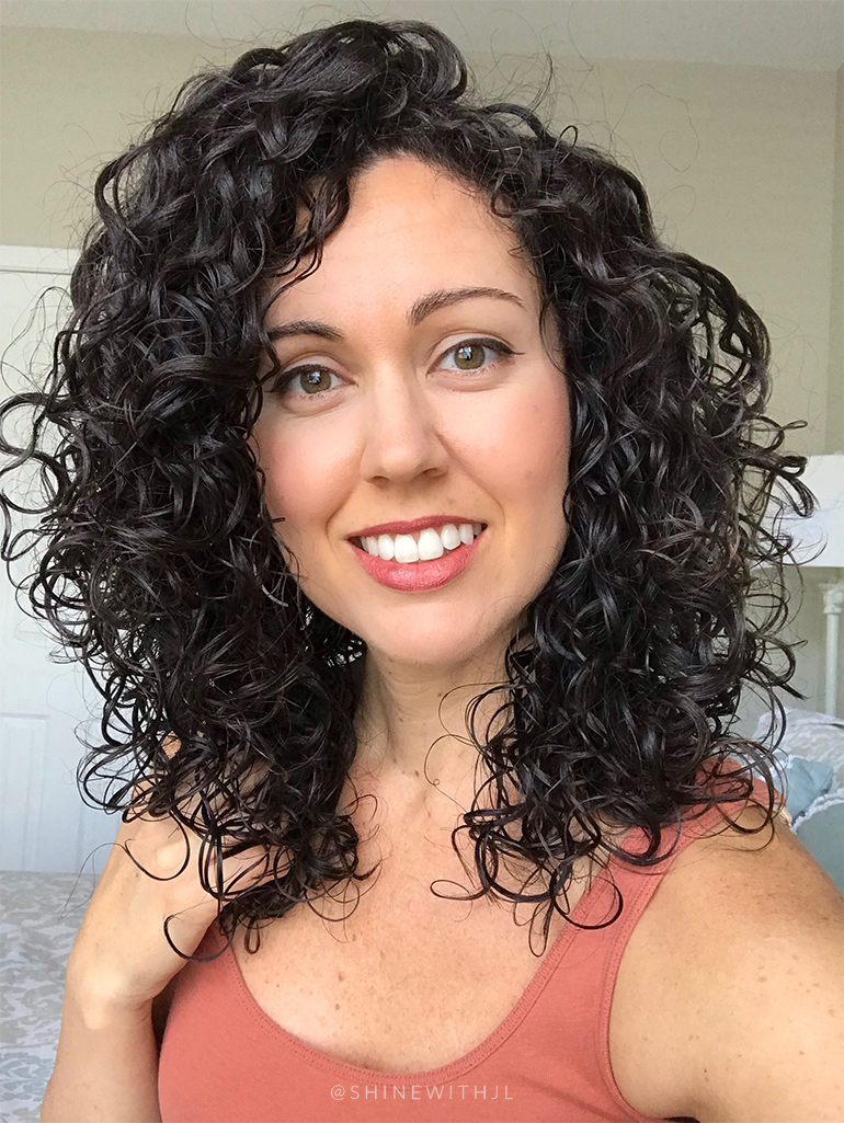 curly hair style using sheamoisture and ouidad products