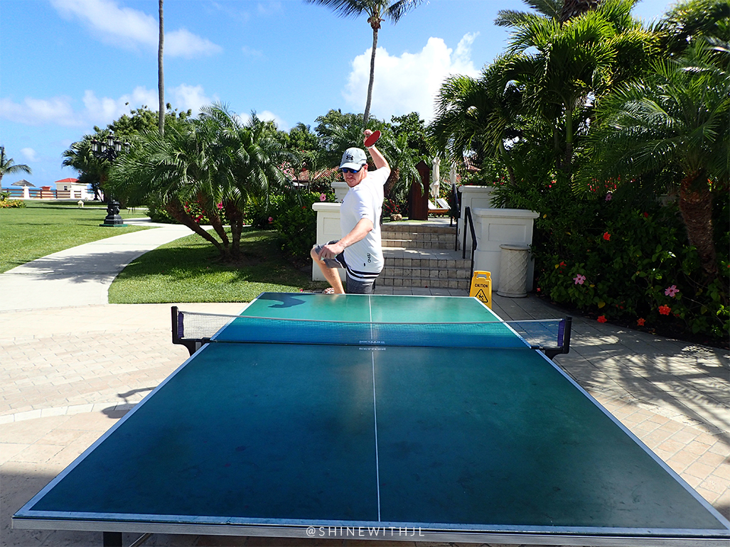 table tennis at sandals antigua