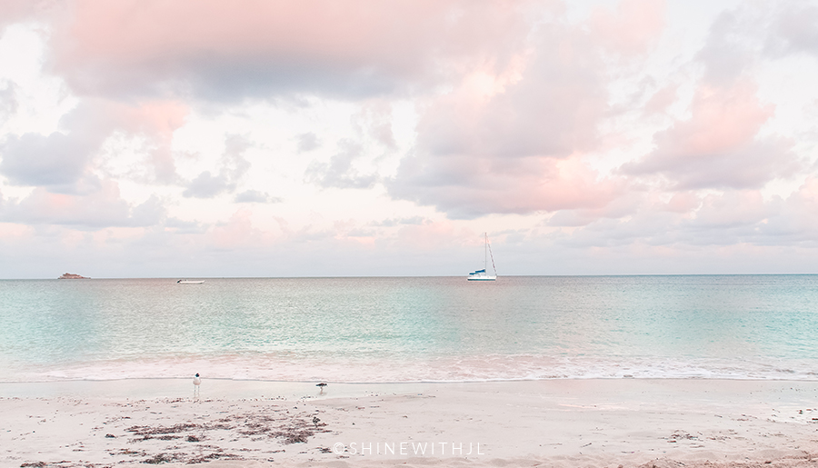 sunset on antigua beach dickenson bay shinewithjl