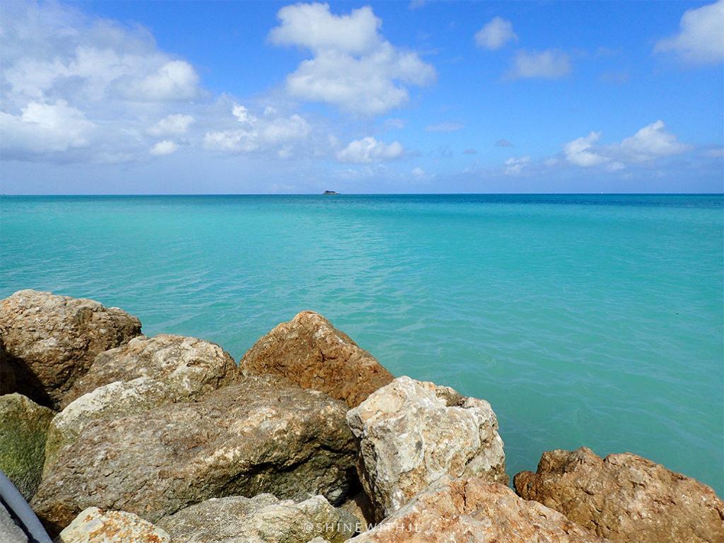 beautiful turquoise water antigua