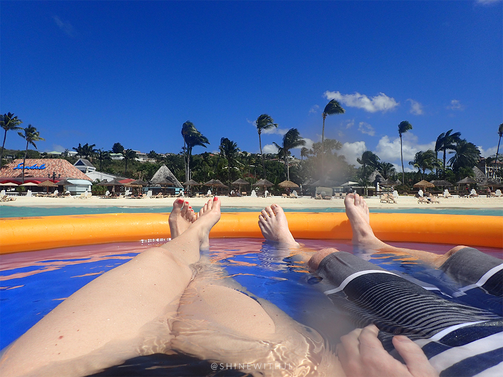 view of sandals antigua from water rafts