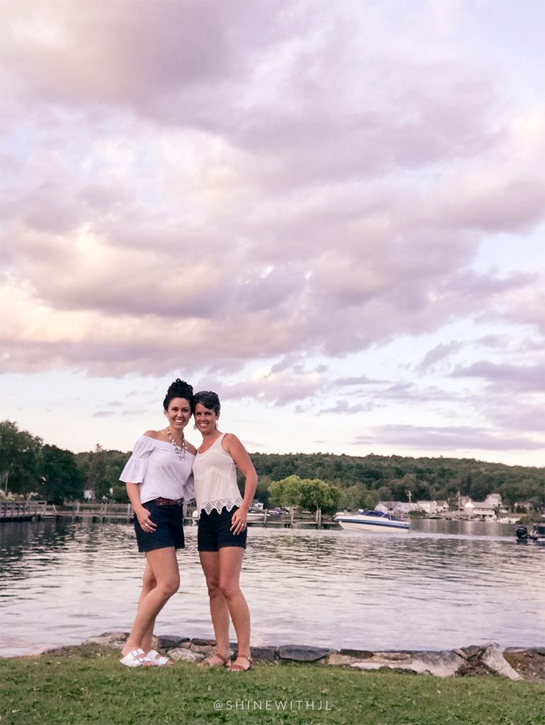 friends selfie lake winnipesaukee