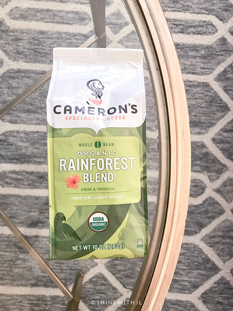 camerons organic coffee beans rainforest blend